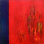 foggy woods 2- - acryl op linnen - 80x80 cm - niet beschikbaar