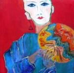 Japanese selfportrait _acryl linnen-30x30 cm