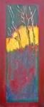 Japanese trees_acryl linnen-30x70 cm