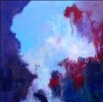 meditation - acryl linnen - 100 x 100 cm