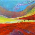 Cornfield - 50 x 50 cm - acryl op doek