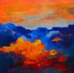 Evening Sky - acryl op linnen - 100x100 cm