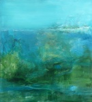 Natte Moerassen - acryl op linnen - 100x90 cm