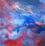 stormy weather 2 - acryl linnen - 100  x 100