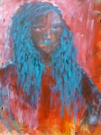 portret - alliaa - acryl op karton - 60x80 cm