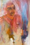 portret aldo - acryl op papier - 50 x 60 cm