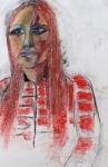 portret alli - acryl op papier - 50x60 cm