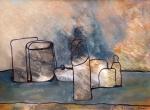 Hommage aan Morandi -10  - acryl papier - 30x20