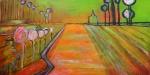 hommage aan V.Gogh3 - acryl op doek - 80x40 cm