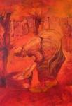 hommage aan V.Gogh-7 - acryl op linnen -80x100 cm