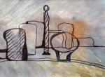 Morandi inspired 2 - acryl papier - 30x20